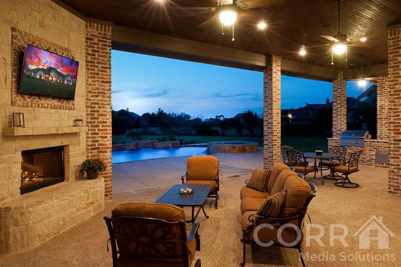 Marvelous Plano Texas Patio TV Audio Video